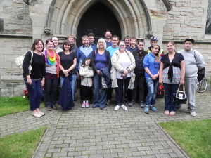 Hartshorne Society of Bell Ringers on their outing in September 2013