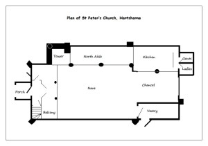 Plan of St Peter's Church