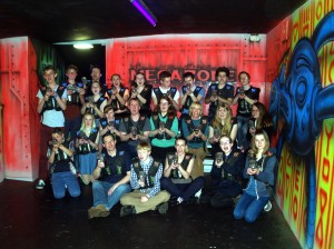 The Youth Group's trip to Megazone, 6 April 2014