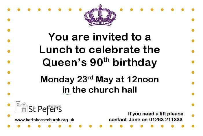 Invitation lunch queen birthday