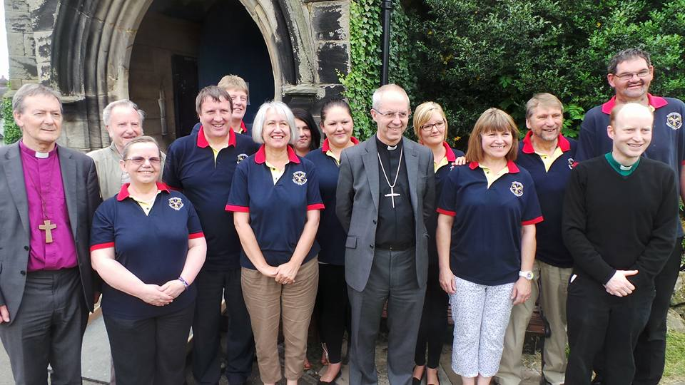 Archbishop and ringers 2