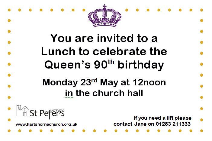 Invitation lunch queen birthday